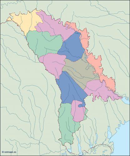 moldova blind map