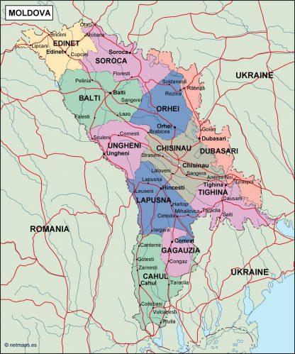 moldova political map