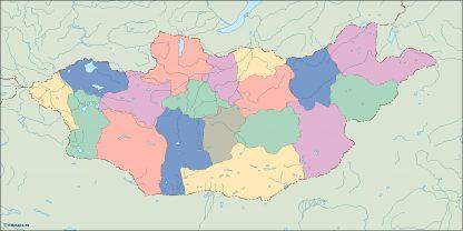 mongolia blind map