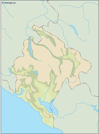 montenegro illustrator map