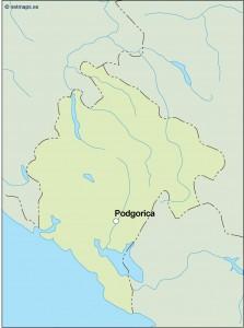 montenegro vector map