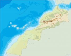 morocco illustrator map
