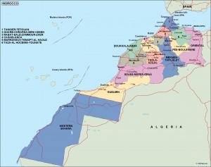 morocco political map