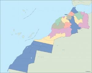 morocco vector map