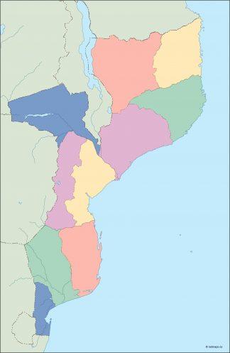 mozambique blind map