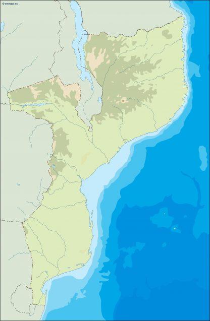 mozambique illustrator map