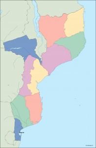 mozambique vector map