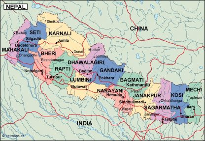 nepal political map