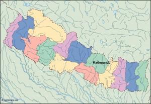 nepal vector map