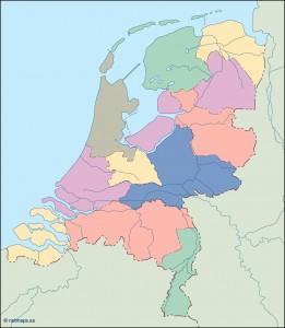 netherlands blind map