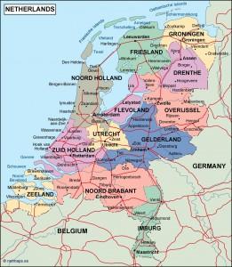 netherlands political map