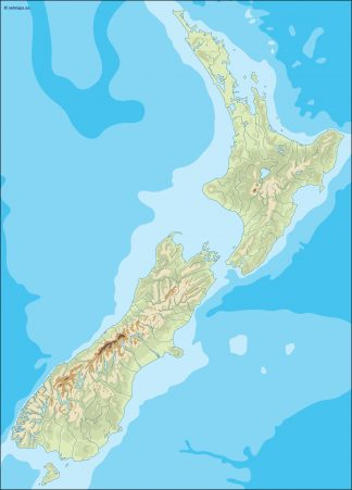 new zealand illustrator map