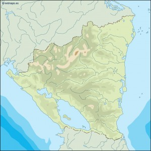 nicaragua illustrator map