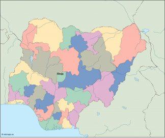 nigeria vector map