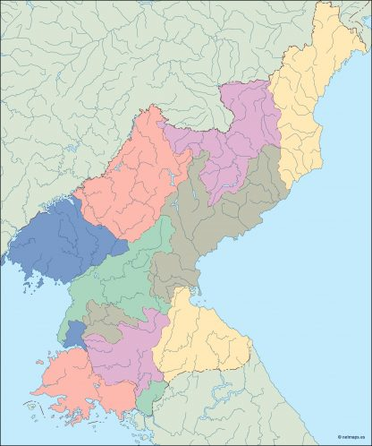 north korea blind map