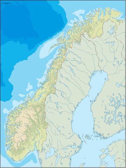 norway illustrator map