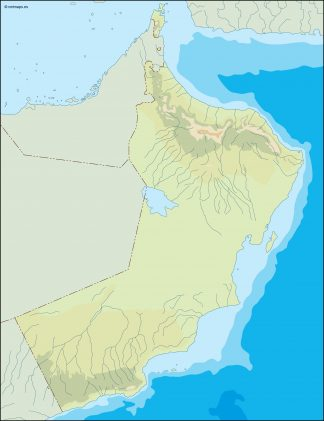 oman illustrator map