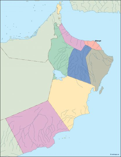 oman vector map