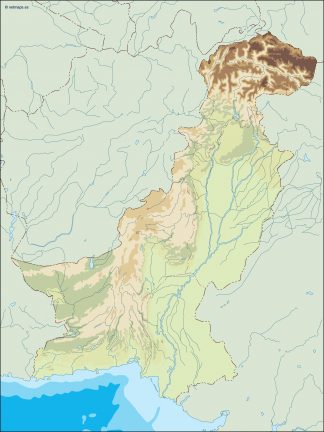 pakistan illustrator map