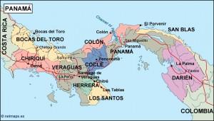 panama political map