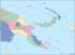 papua new guinea blind map