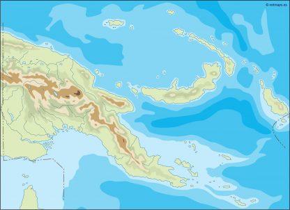 papua new guinea illustrator map