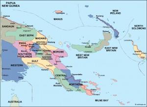 papua new guinea political map