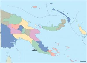 papua new guinea vector map