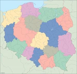 poland blind map