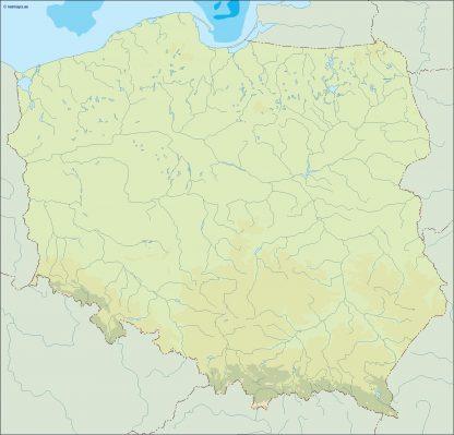 poland illustrator map