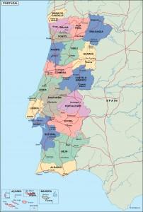 portugal political map
