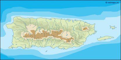 puerto rico illustrator map