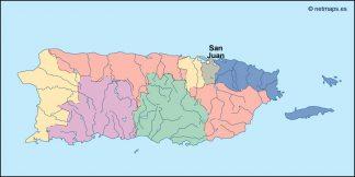 puerto rico vector map