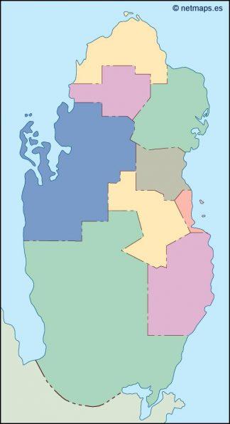 qatar blind map