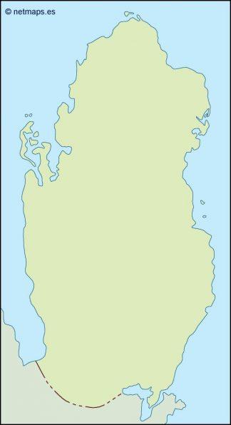 qatar illustrator map