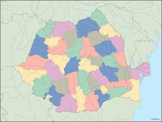romania blind map