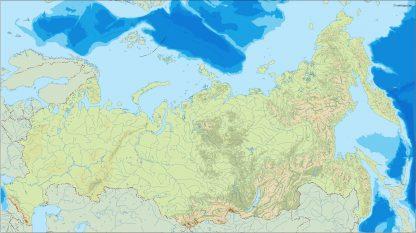 russia illustrator map