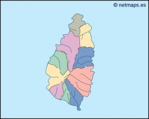 saint lucia blind map