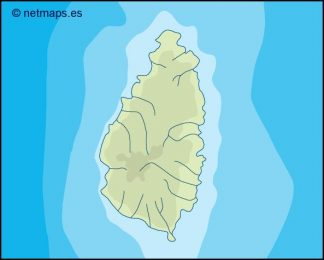 saint lucia illustrator map