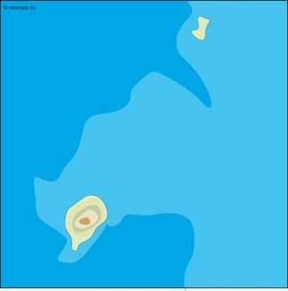 sao tome e principe illustrator map