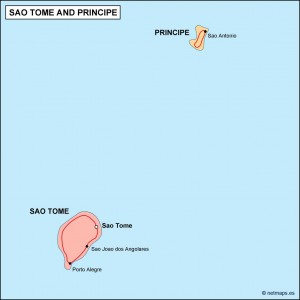 sao tome e principe political map