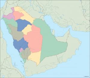 saudi arabia blind map
