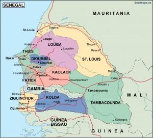 senegal political map