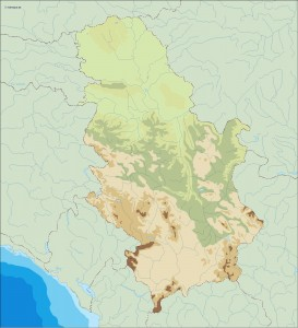 serbia illustrator map