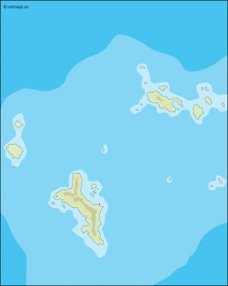 seychelles illustrator map