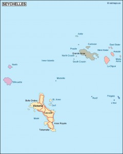 seychelles political map