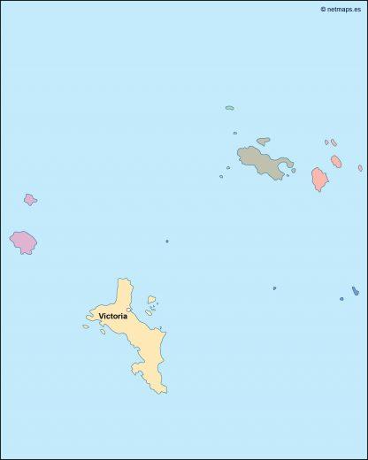 seychelles vector map