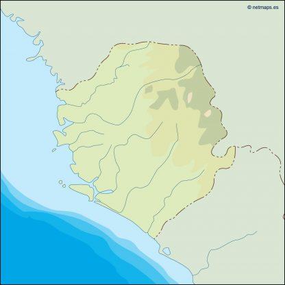 sierra leone illustrator map