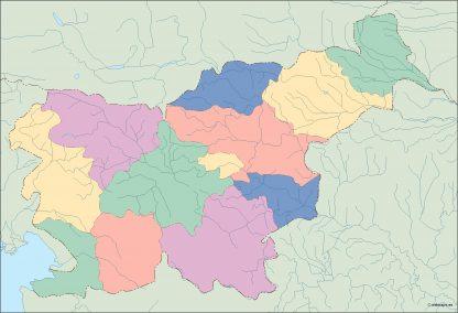 slovenia blind map