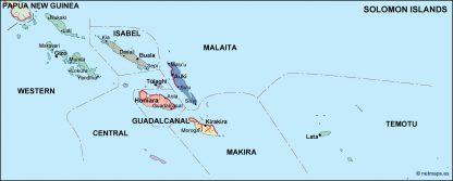 solomon political map